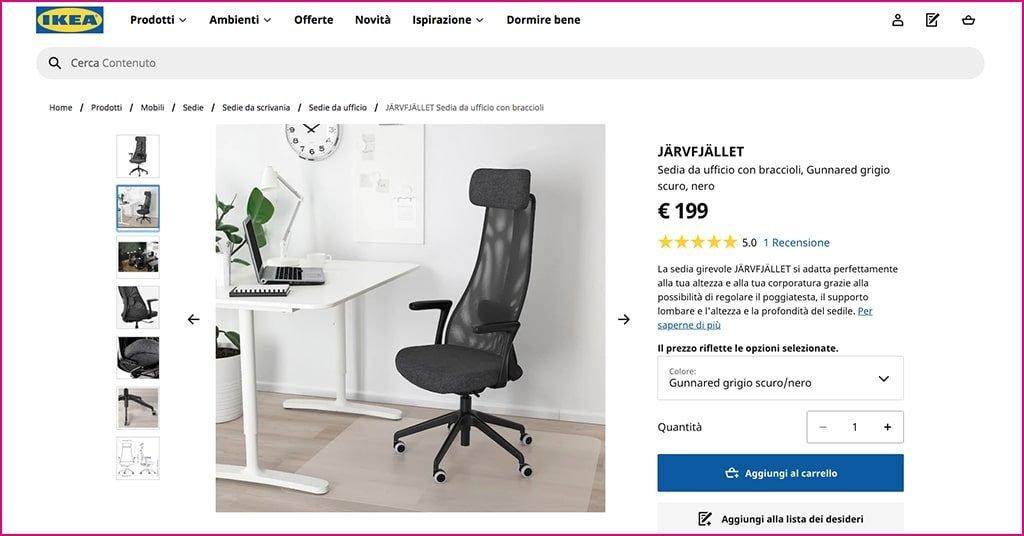 Poltrona Ikea ufficio