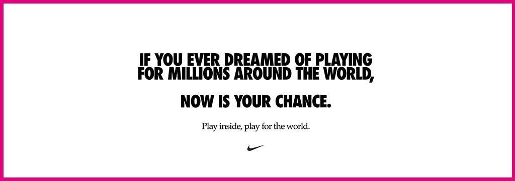 Nike, campagna Covid-19
