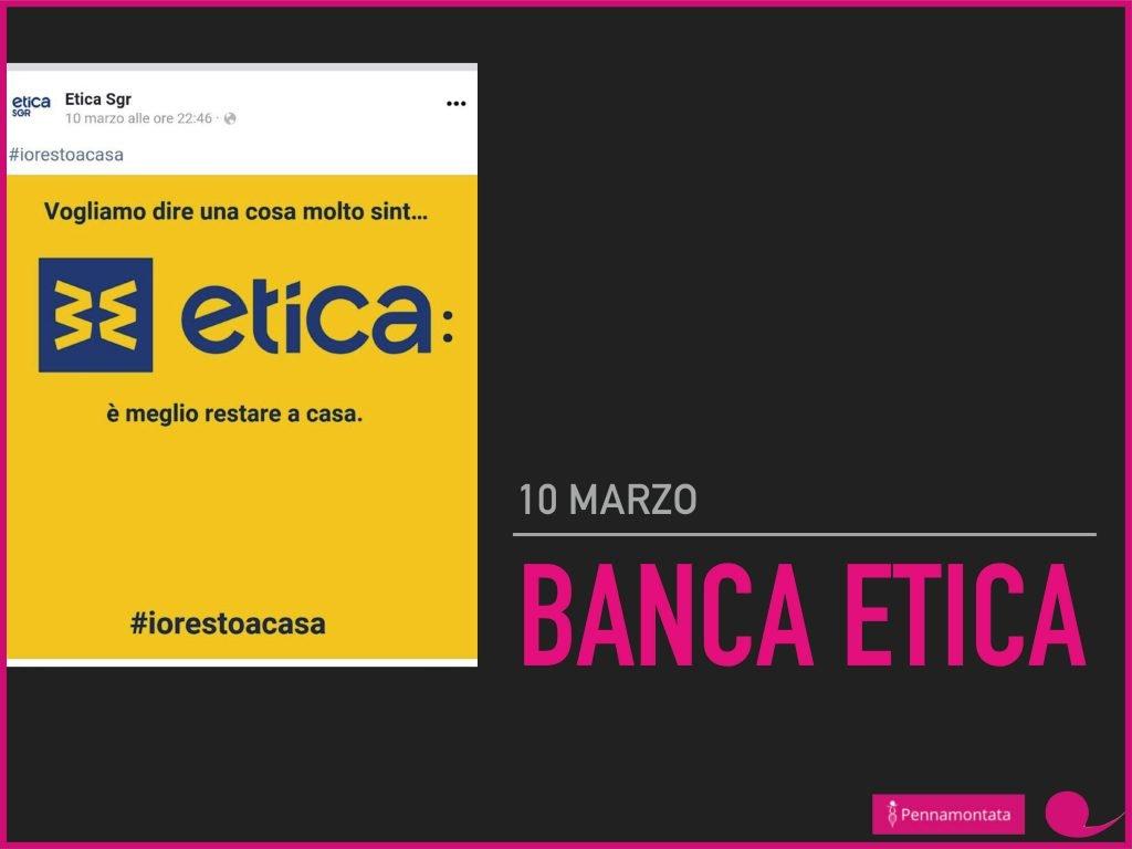 banca etica #iorestoacasa