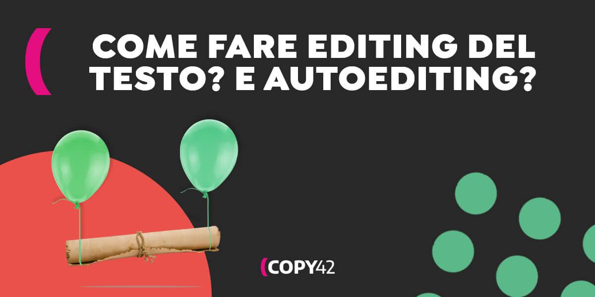 Come fare editing di un testo