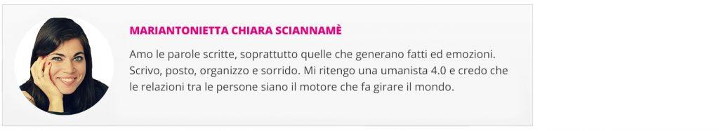 Box autore Chiara Sciannamè
