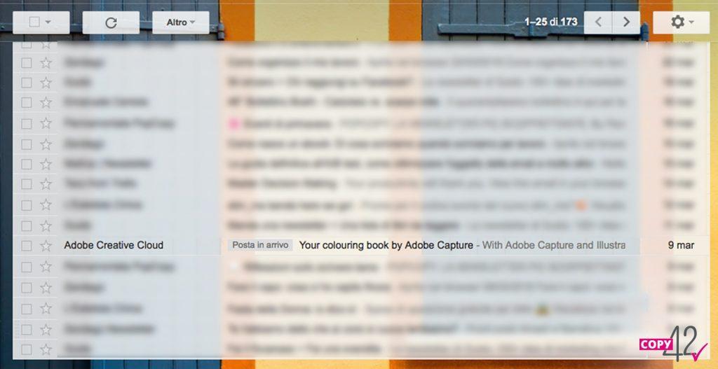 Esempio oggetto newsletter Adobe