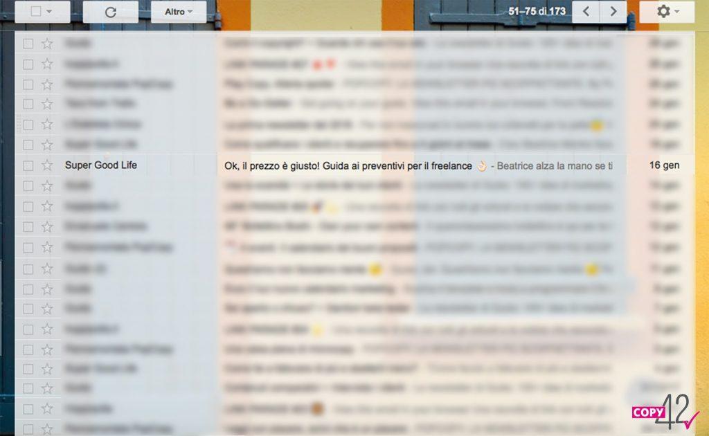 Esempio oggetto newsletter